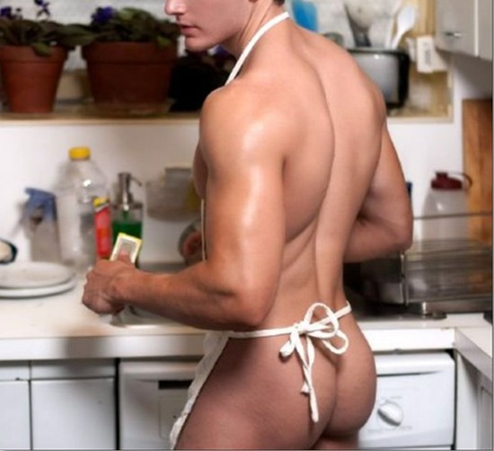 Naked men cleaning house think, you