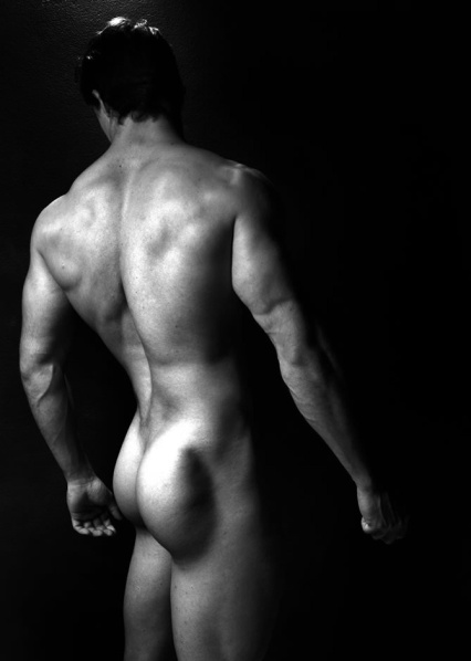 sexy back dark b&w