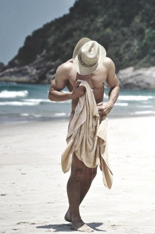 cowboy on beach