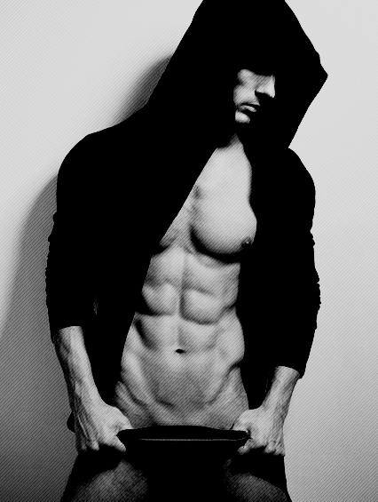 man dark hood shadow