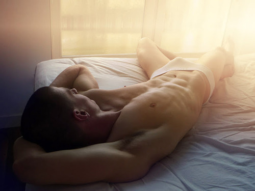 sunlight bed sexy bulge