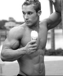 Hot Guy with Ice Cream