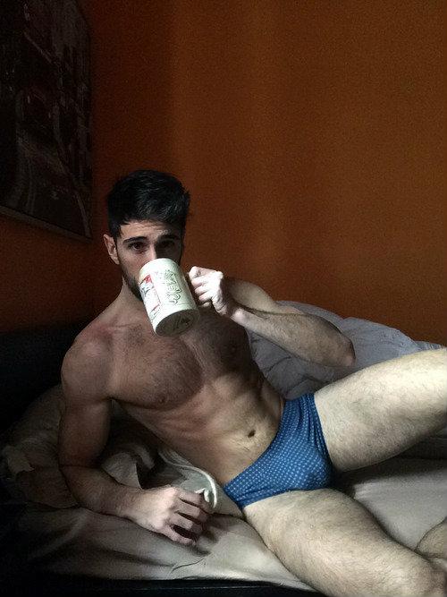 sexy coffee drinking