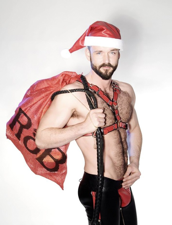 sexy santa leather christmas