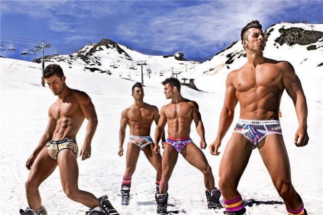sexy men in snow