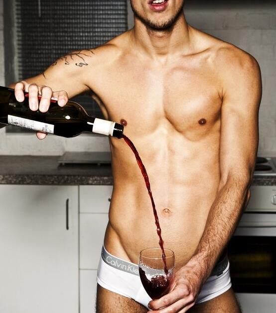 hot guy wine