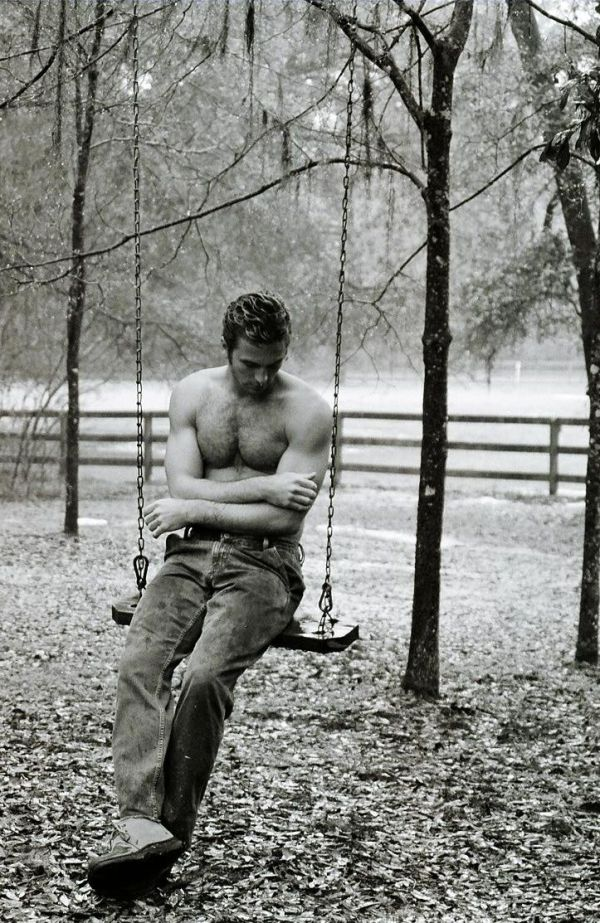 hot guy on swing