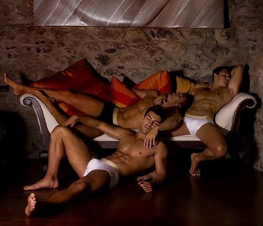 sleeping hot guys