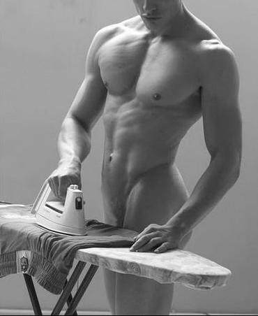 houseboy-ironingb&w