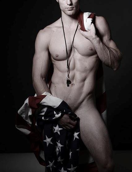 american flag nude
