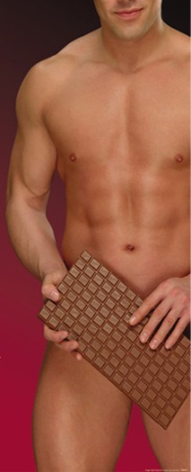 Chocolate with man