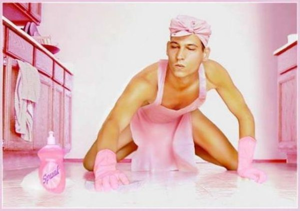 man-in-pink-cleaning-the-floor-houseboy